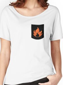 Pokemon Mondern Fire Type Pocket Women's Relaxed Fit T-Shirt