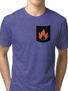 Pokemon Mondern Fire Type Pocket Tri-blend T-Shirt