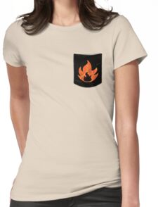 Pokemon Mondern Fire Type Pocket Womens Fitted T-Shirt