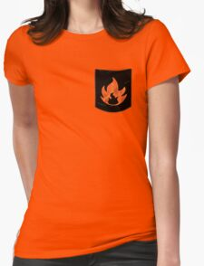 Pokemon Mondern Fire Type Pocket Womens Fitted T-Shirt