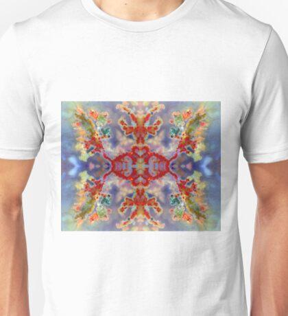 Rainbow Snowflake (Plume Agate) Unisex T-Shirt