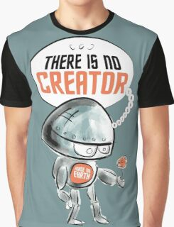 No Creator God Earth Robot Artificial Intelligence Graphic T-Shirt