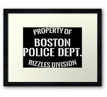 Rizzles Division Framed Print