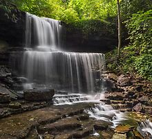 Idyllic Cascade - West Milton, Ohio by Kenneth Keifer
