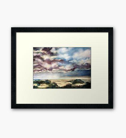 Coastal Clouds Framed Print