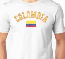 Colombia Flag Vintage Unisex T-Shirt
