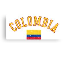 Colombia Flag Vintage Canvas Print