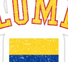 Colombia Flag Vintage Sticker