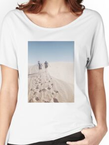 Hiking the Big Californian Sand Dune Women's Relaxed Fit T-Shirt