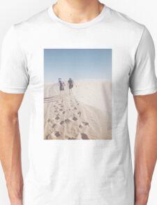 Hiking the Big Californian Sand Dune Unisex T-Shirt