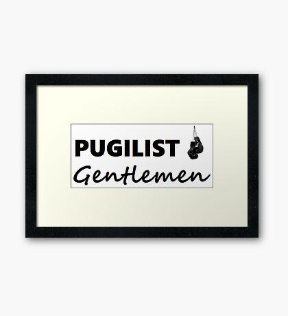 Pugilist Gentlemen Black Logo T-Shirt Framed Print