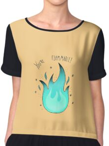 You're Flammable! Chiffon Top