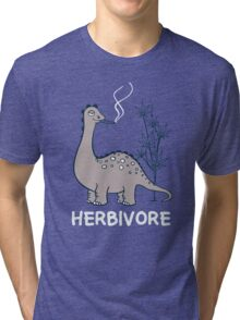 HERBIVORE FUNNY DINO Tri-blend T-Shirt