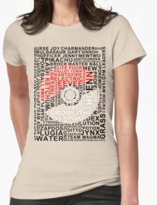 pokeball typography  Womens Fitted T-Shirt