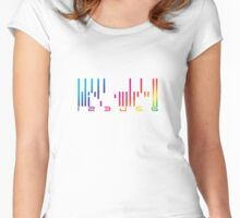 Dark Matter - The Android barcode Women's Fitted Scoop T-Shirt