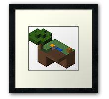 Skyblocks Framed Print