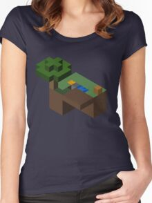 Skyblocks Women's Fitted Scoop T-Shirt