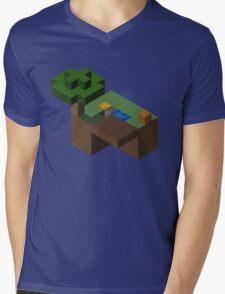Skyblocks Mens V-Neck T-Shirt