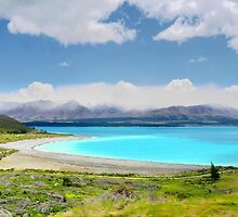 Lake Pukaki and Me by Larry Lingard-Davis