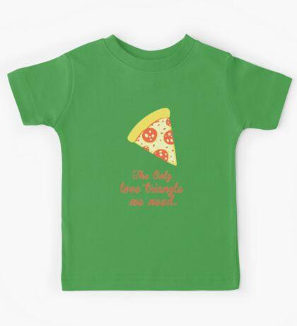 PIZZA LOVE TRIANGLE Kids Tee