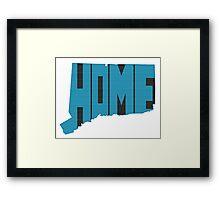 Connecticut HOME state design Framed Print