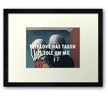 THIS LOVE - THE LOVERS Framed Print