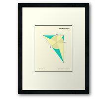 HERON'S FORMULA Framed Print
