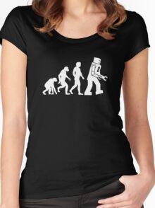 ROBOT EVOLUTION Women's Fitted Scoop T-Shirt