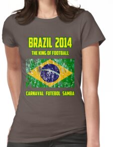 Brazil Futebol Womens Fitted T-Shirt