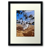 Dig your well before you're thirsty. Framed Print