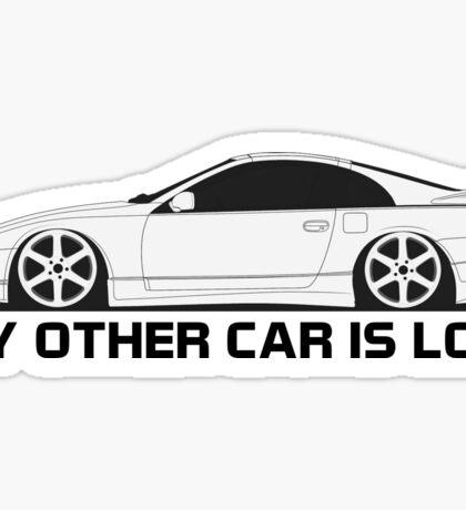 z32 Other Car is Low Sticker