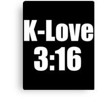 Kevin Love 3:16 Canvas Print