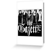 GAZETTE ROCK BAND Greeting Card