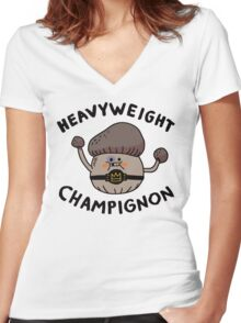 Heavyweight Champignon Women's Fitted V-Neck T-Shirt