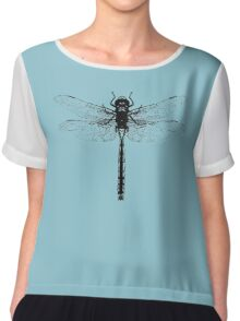 Black Dragonfly Chiffon Top