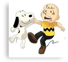 snoopy&charlie happy Canvas Print