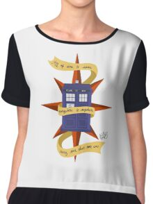 The TARDIS Chiffon Top