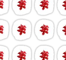 Red Hibiscus Sticker