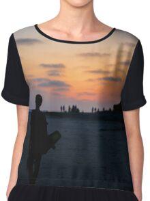 Sunset silhouette Chiffon Top