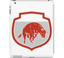 Raging Bull Jumping Attacking Charging Retro iPad Case/Skin