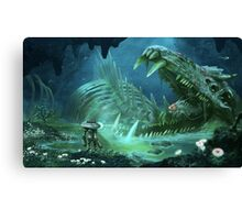 Exploring the Lost River Canvas Print