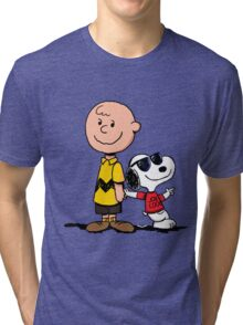 snoopy and charlie cool Tri-blend T-Shirt