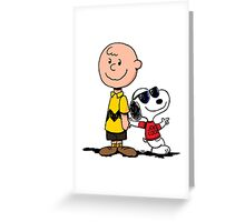 snoopy and charlie cool Greeting Card