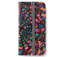 Pink Psychedelic Kaleidoscope Pattern   iPhone Wallet/Case/Skin