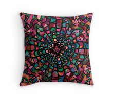 Pink Psychedelic Kaleidoscope Pattern   Throw Pillow