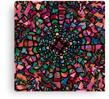 Pink Psychedelic Kaleidoscope Pattern   Canvas Print