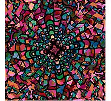 Pink Psychedelic Kaleidoscope Pattern   Photographic Print