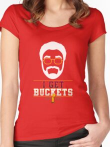 I GET BUCKETS - All In 2016 Women's Fitted Scoop T-Shirt