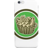 Crop Harvest Basket Circle Retro iPhone Case/Skin