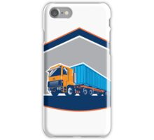 Container Truck and Trailer Shield Retro iPhone Case/Skin